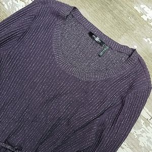 Purple Sparkle sweater dress